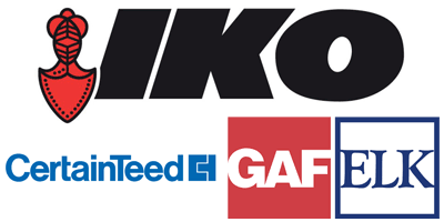 IKO, CertainTeed, GAF ELK roofing products